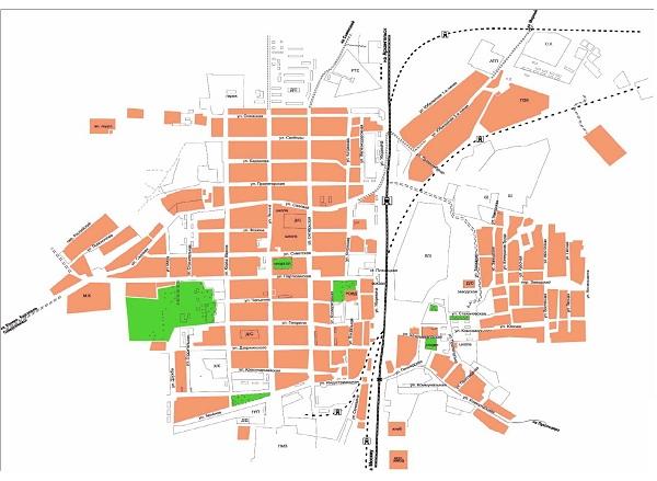 карта плесецка